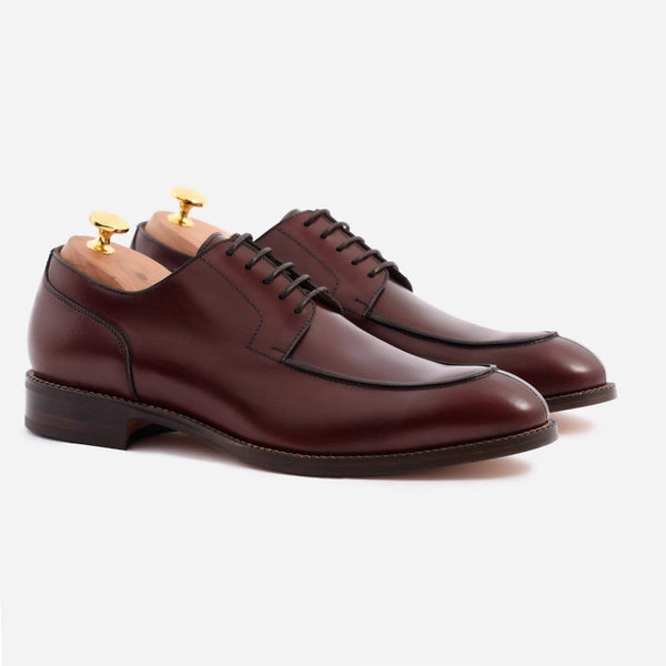 *SECONDS* Clegg Split Toe Derby - Calfskin Leather - Bordeaux