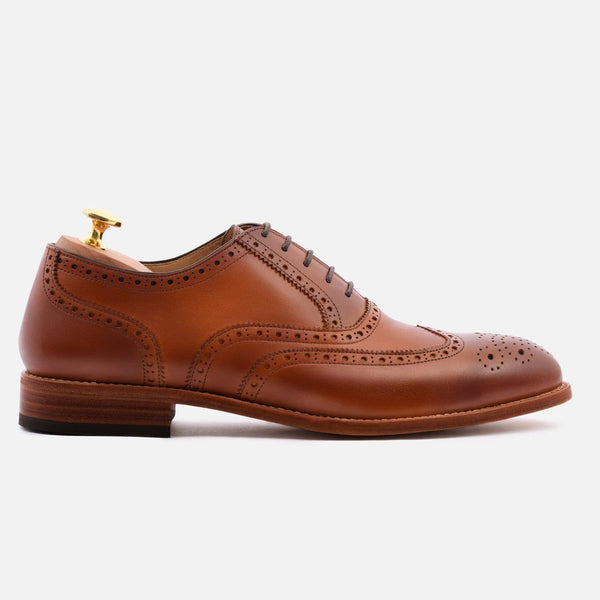 *SECONDS* Yates Oxford Brogues - Calfskin Leather - Tan