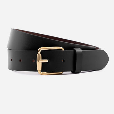 Molina Belt - Calfskin Leather - Black