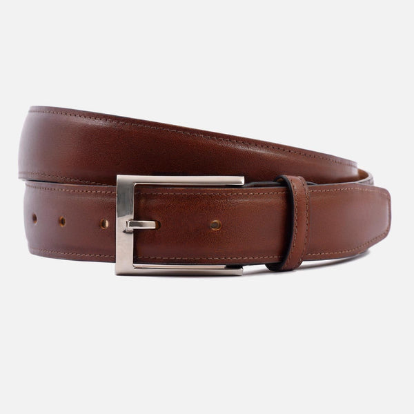 *SECONDS* Nelson Belt - Calfskin Leather - Oak