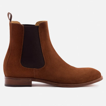 Bolton Chelsea Boot - Water Repellent Suede - Chestnut