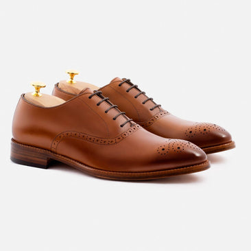 Brent Oxford - Calfskin Leather - Tan