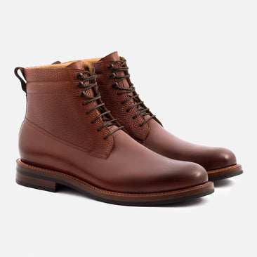 Columbus Boots - Calfskin Leather - Oak