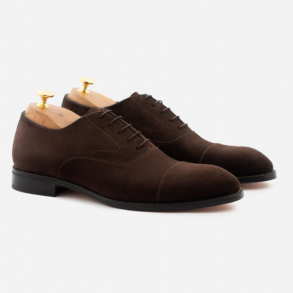 Dean Oxford - Water Repellent Suede - Brown