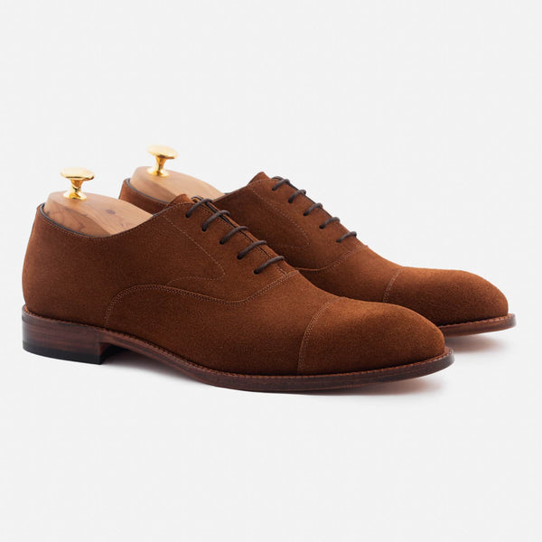 Dean Oxford - Water Repellent Suede - Chestnut