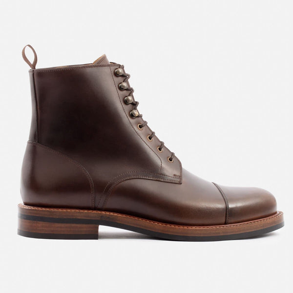 *SECONDS* Dowler Cap-toe Boot - Pull-Up Leather - Brown