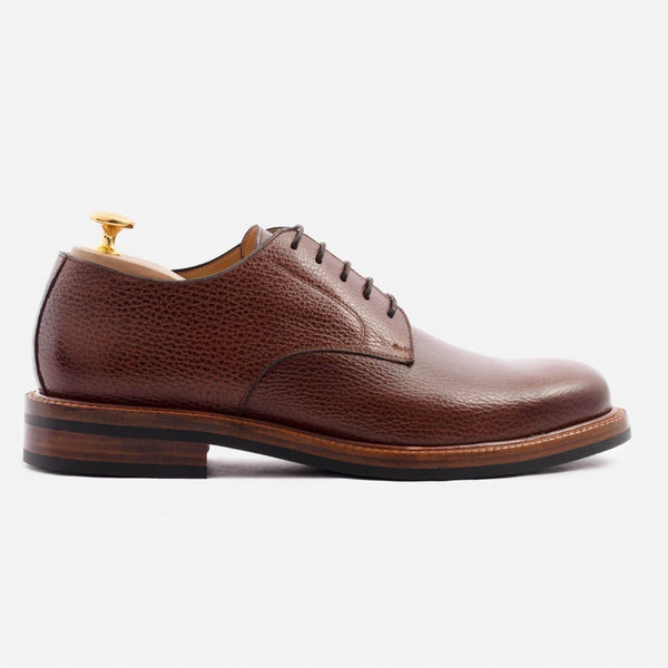 *SECONDS* Dunham Derby - Pebble Grain Leather - Oxblood