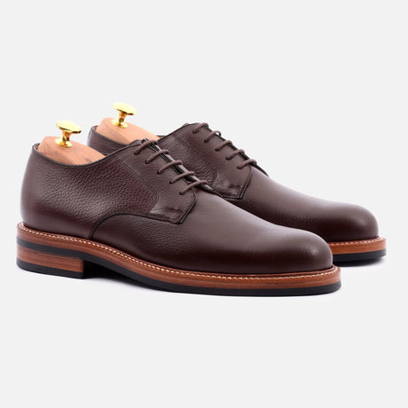 seconds-dunham-derby-tumbled-leather-brown