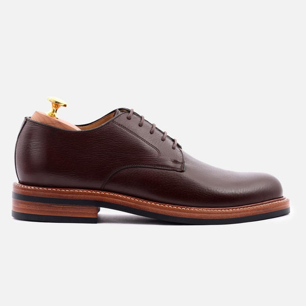 *SECONDS* Dunham Derby - Tumbled Leather - Brown
