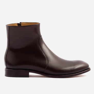 Easton Side-Zip Boot - Calfskin Leather - Brown