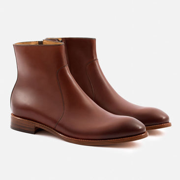 Easton Side-Zip Boot - Calfskin Leather - Oak