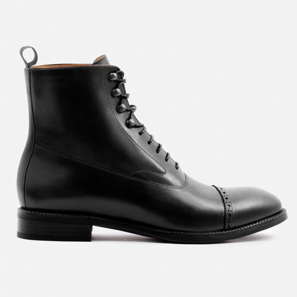 Elliot Balmoral Boot - Calfskin Leather - Black