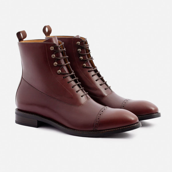 Elliot Balmoral Boot - Calfskin Leather - Bordeaux