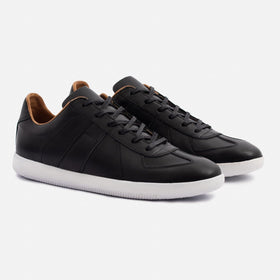 Morgen Classic - Full grain Leather - Black/White