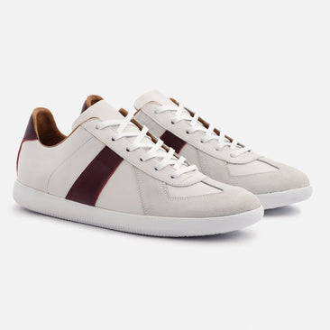 Morgen Classic - Full grain Leather/Suede - White/Bordeaux/White