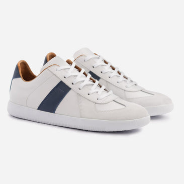 Morgen Classic - Full grain Leather/Suede - White/Blue/White