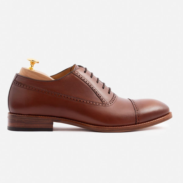 Reyes Oxford - Calfskin Leather - Oak