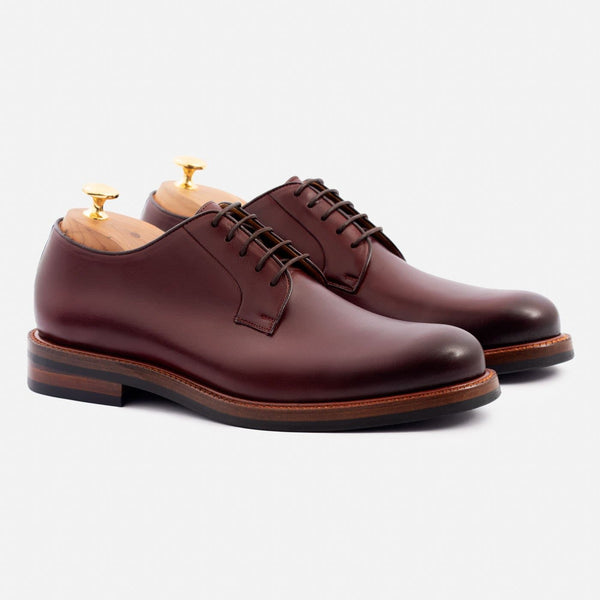 Sutton Derby - Calfskin Leather - Bordeaux