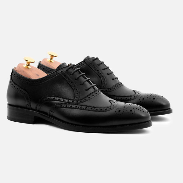*SECONDS* Yates Oxford Brogues - Calfskin Leather - Black