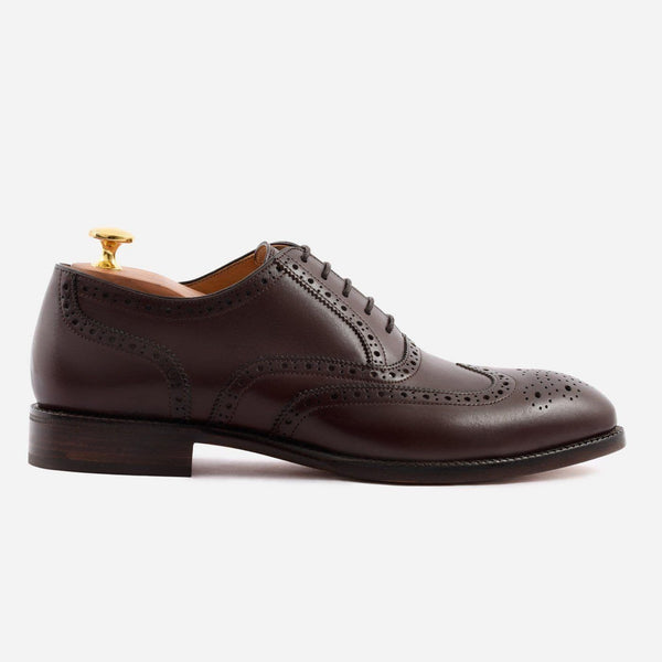 *SECONDS* Yates Oxford Brogues - Calfskin Leather - Brown