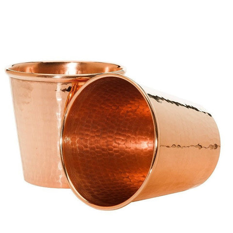Pure Copper Tumbler and Coaster Set