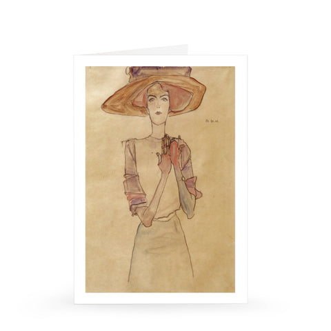 Egon Schiele: Frau Dr. Horwitz with Large Hat, 1910 [Single Card]