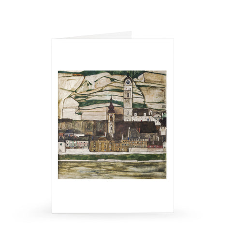 Egon Schiele: Stein on the Danube, Seen from the South (Large), 1913 [Single Card]