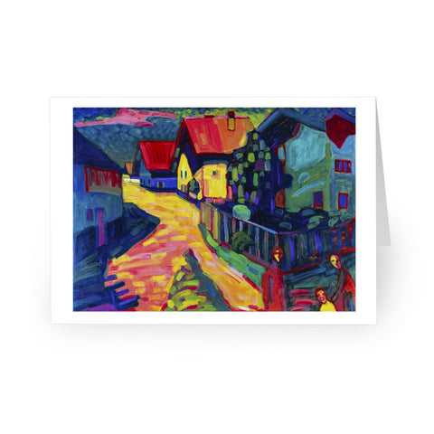 Vasily Kandinsky: Murnau: Street with Women, 1908 [Single Card]