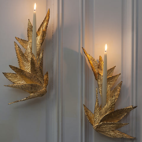 Michele Oka Doner Golden Wall Sconce