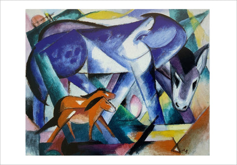 Franz Marc: The First Animals [Postcard]