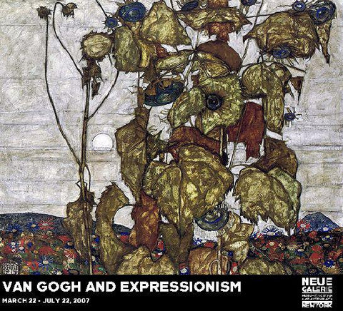 Egon Schiele: Wilted Sunflowers [Van Gogh Exhibition Poster II]