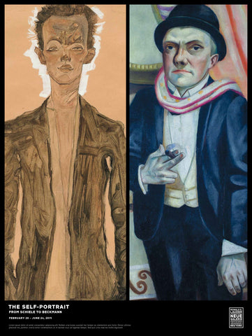 The Self-Portrait Exhibition Poster: Schiele to Beckmann