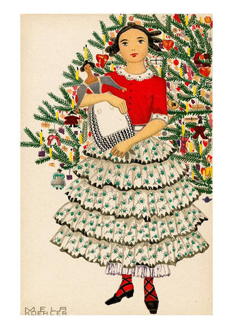 Holiday Cards by Mela Koehler for the Wiener Werkstätte
