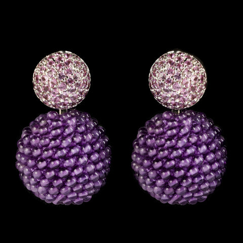 A. E. Köchert Sapphire and Amethyst Earrings