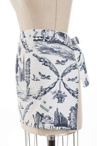 Toile de Vienne Cocktail Apron