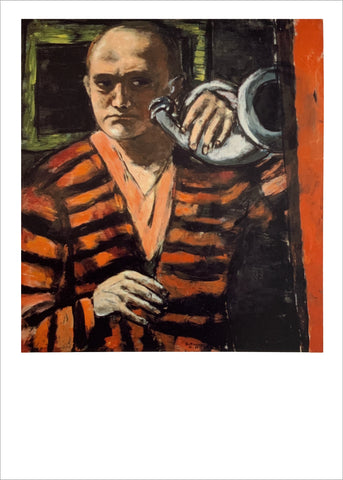 Max Beckmann: Self-Portrait with Horn [Postcard]