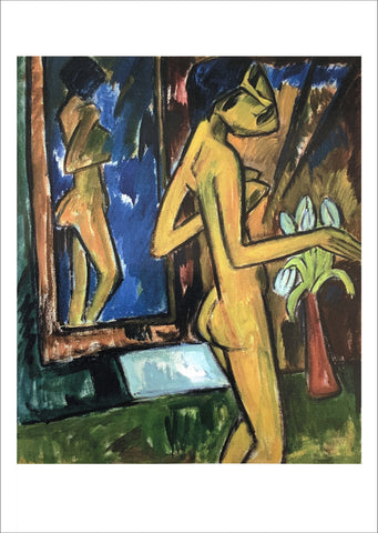 Karl Schmidt-Rottluff: Girl Before Mirror [Postcard]