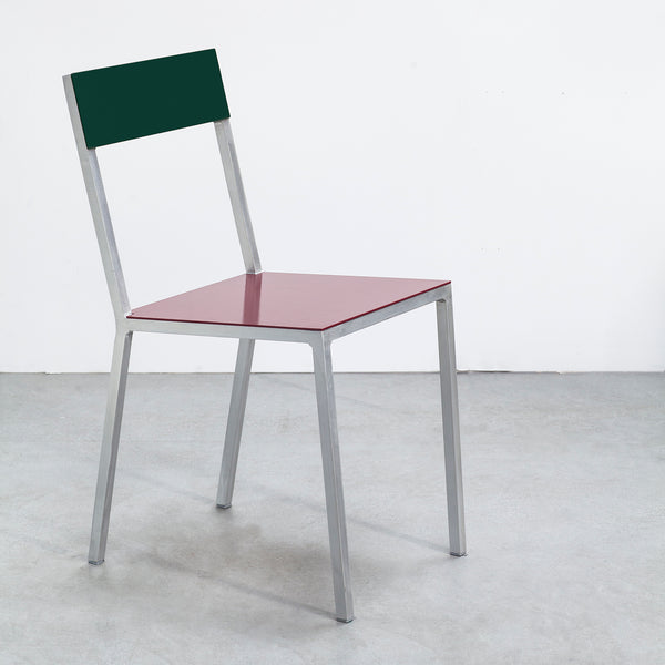 Alu Chair / Burgundy Candy Green.