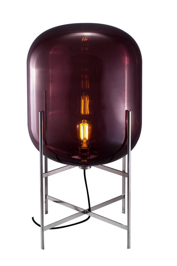 Oda Medium / Aubergine - Chrome