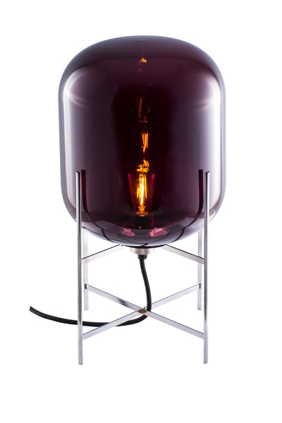 Oda Small / Aubergine - Chrome