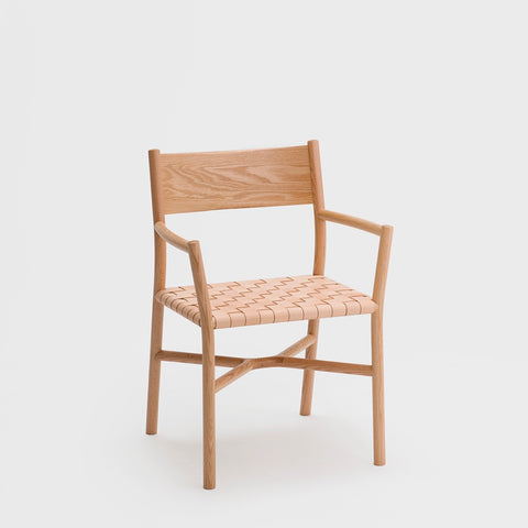 Ariake Arm Chair / Oak - Leather Strap