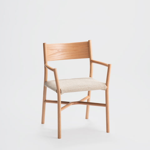 Ariake Arm Chair / Oak - Fabric Cushion