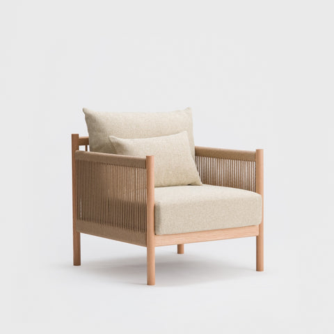 Braid Sofa 1 Seat / Oak