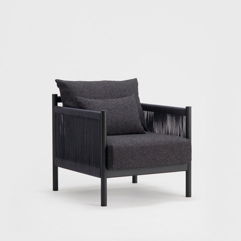 Braid Sofa 1 Seat / Sumi Ash
