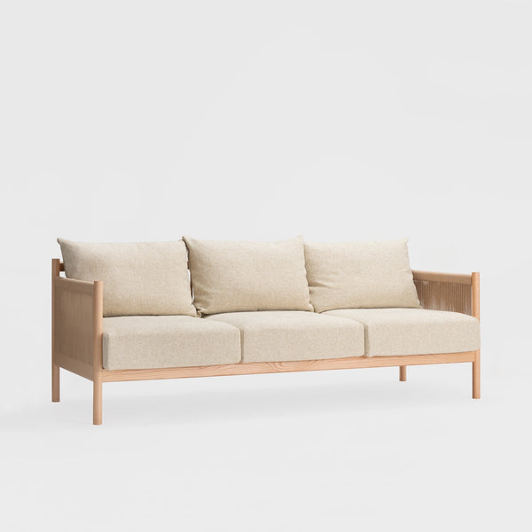 Braid Sofa 3 Seat / Oak