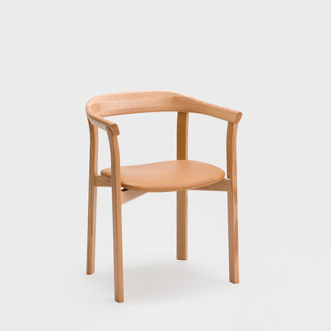 Holm Chair / Oak - Leather Cushion