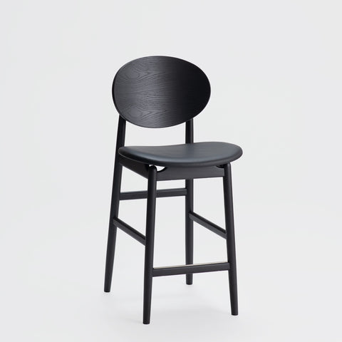Outline Barstool / Sumi Ash - Leather