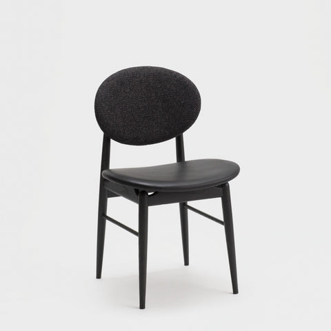 Outline Chair / Sumi Ash - Leather - Fabric