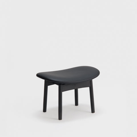 Saga foot stool / Leather Seat