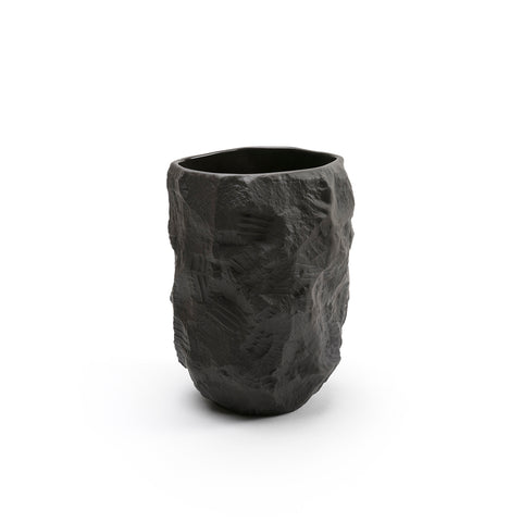 Crockery Series / Tall Vase / Black